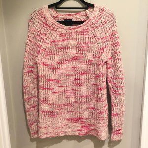 American Eagle Two Tone Pink Knit Crewneck Sweater